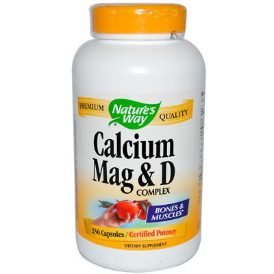 Natures Way Calcium Mag and D Complex - 250 Capsules