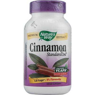 Natures Way Cinnamon Standardized - 120 Vcaps