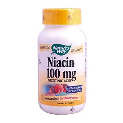 Natures Way Niacin - 100 mg - 100 Capsules