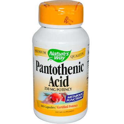 Natures Way Pantothenic Acid - 250 mg - 100 Capsules