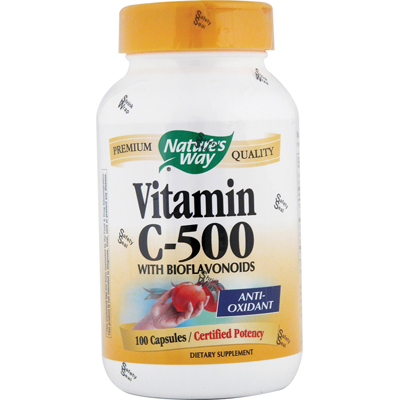 Natures Way Vitamin C-500 with Bioflavonoids - 500 mg - 100 Capsules