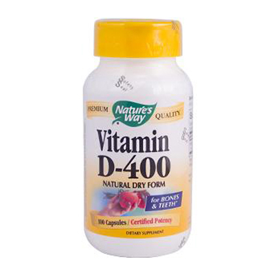 Natures Way Vitamin D-400 - 400 IU - 100 Capsules