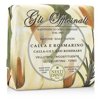 Nesti Dante 200055 Gli Officinali Soap - Calla-Lily & Rosemary - Velveting & Tonic 200 g-7 oz