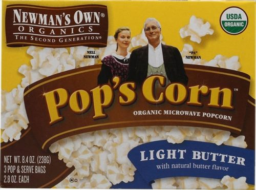 Newman`S Own Organics Microwave Light Butter PopS Corn 2.8 Oz