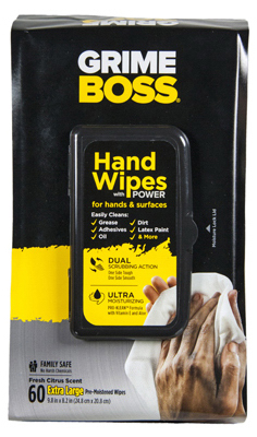 Nice Pak Products M956S8X Hand Cleaning Wipes 60 Count