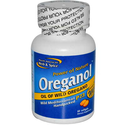 North American Herb & Spice 0108795 Oreganol Oil of Wild Oregano - 60 Gelatin Capsules