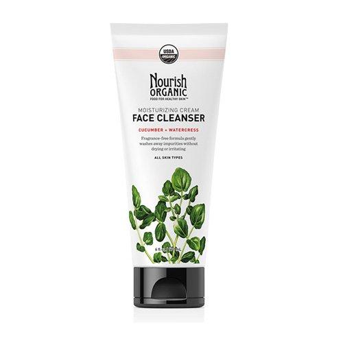 Nourish 1383660 Organic Face Cleanser Moisturizing Cream Cucumber & Watercress - 6 oz