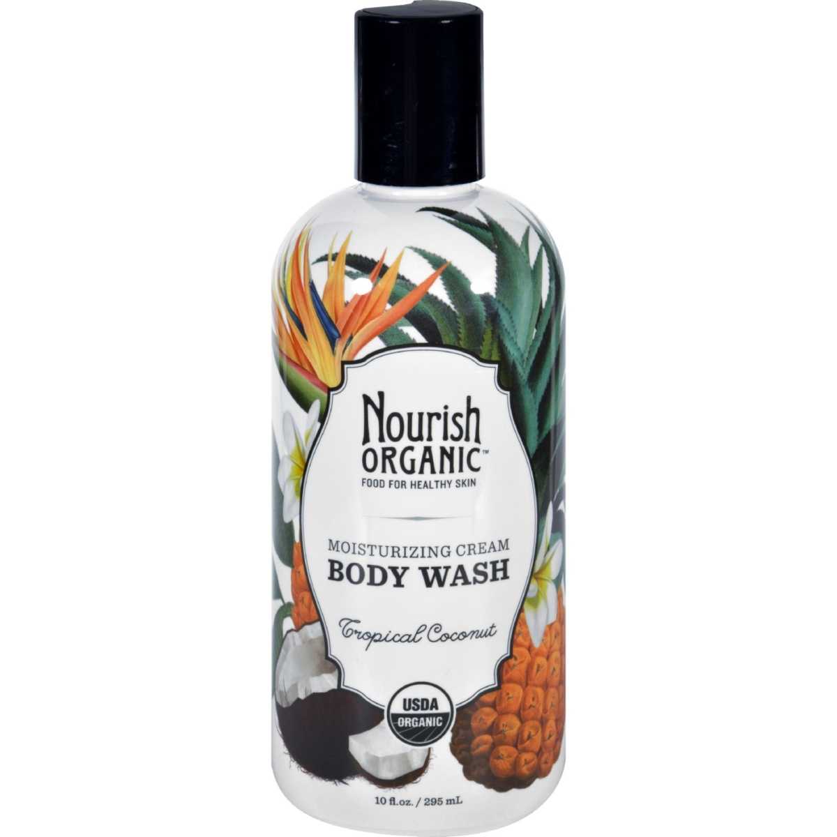 Nourish 1604495 10 fl. oz Organic Body Wash Tropical Coconut