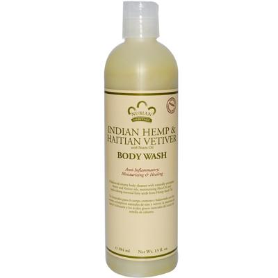 Nubian Heritage 0567040 Body Wash Indian Hemp And Haitian Vetiver - 13 fl oz