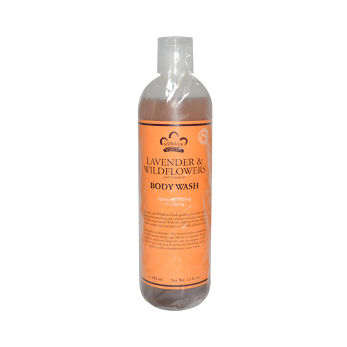 Nubian Heritage 0918219 Body Wash with Shea Butter Lavender & Wildflowers - 13 fl oz