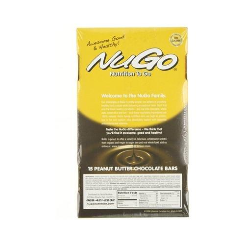 Nugo Nutrition 0427310 Peanut Butter Chocolate Bar 1.76 oz - Case of 15