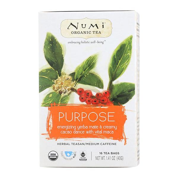 Numi Tea 232528 Organic Teas Purpose Holistic Teas - Bag of 16
