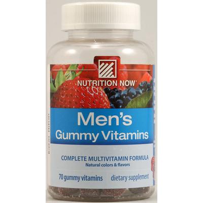 Nutrition Now 1118223 Mens Gummy Vitamins Bold Fruit - 70 Gummies