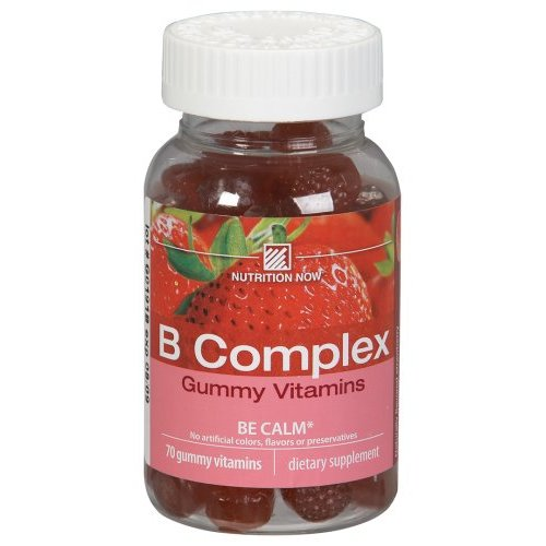 Nutrition Now Dietary Supplements B Complex Strawberry Flavored 70 count Gummy Vitamins for Adults 221326
