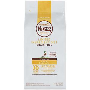 Nutro 79105122092 Limited Ingredient Diet Grain Free Duck & Lentils Dog Food