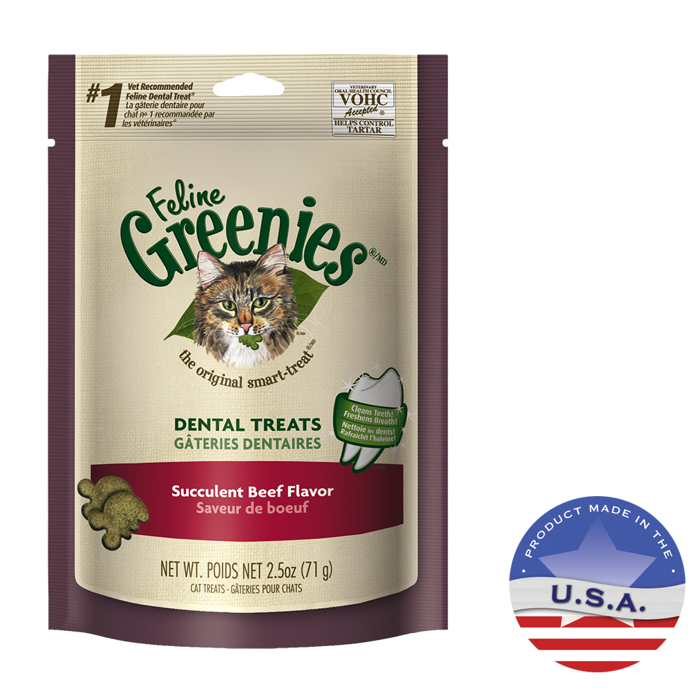 Nutro Products 018GRN-FEL-1618 2.5 oz Feline Greenies Beef Dental Treats
