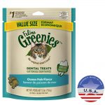 Nutro Products 018GRN-FEL-1656 5.5 oz Feline Greenies Ocean Fish Dental Treats