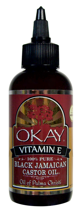 OKAY Black Jamaican Castor Oil with Vitamin E & Panthenol 118 ml - 4 oz