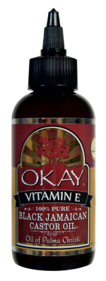 OKAY Black Jamaican Castor Oil with Vitamin E & Panthenol 59 ml - 2 oz