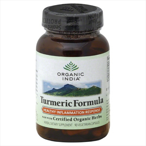 ORGANIC INDIA TURMERIC FORMULA-90 CP -Pack of 1