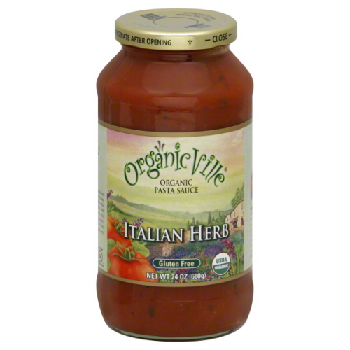ORGANICVILLE SAUCE ITAL HERB-25 OZ -Pack of 6