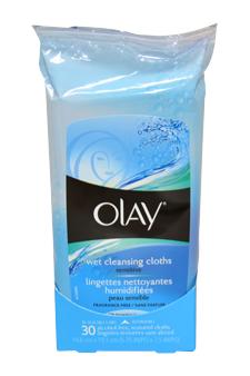 Olay W-BB-1834 Wet Cleansing Cloths Sensitive - 30 Pc - Cloths