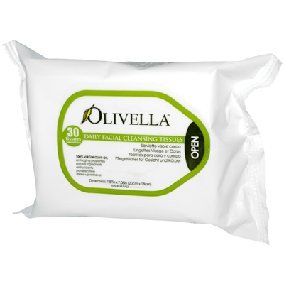 Olivella 0561845 Daily Facial Cleansing Tissues - 30 Tissues