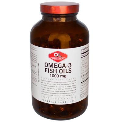 Olympian Labs 0383299 Omega-3 Fish Oils - 1 g - 240 Softgels