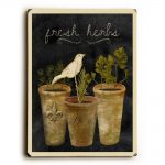 One Bella Casa 0004-6722-25 9 x 12 in. Fresh Herbs Solid Wood Wall Decor by Beth Albert