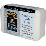 One With Nature 0650259 Dead Sea Mineral Dead Sea Salt Soap - 7 oz
