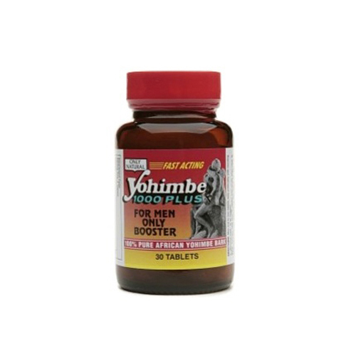 Only Natural 0525774 Yohimbe 1000 Plus Tablets 30 Count