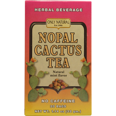Only Natural 1086339 Nopal Cactus Tea Caffeine Free Natural Mint - 20 Tea Bags