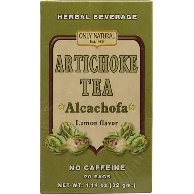 Only Natural 1086354 Artichoke Tea Caffeine Free Lemon - 20 Tea Bags
