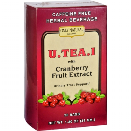 Only Natural 1649599 Gluten Free U.Tea.I Urinary Tract Support Tea with Cranberry Fruit Extract 20 Bags
