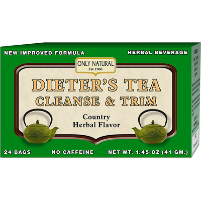 Only Natural DieterS Tea Cleanse And Trim Country Herbal - 24 Tea Bags