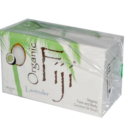 Organic Fiji Organic Face and Body Coconut Oil Soap Lavender - 7 oz