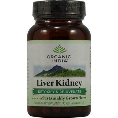 Organic India 0337840 Liver Kidney Detoxify and Rejuvenate - 90 Vegetarian Capsules