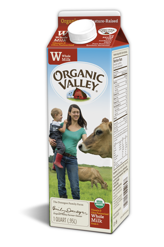 Organic Valley Organic Aseptic Whole Milk - 6.75 Ounce