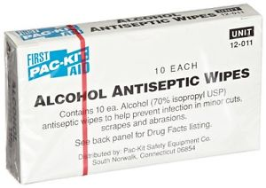 Pac-Kit 579-12-011 Alcohol Antiseptic Wipes - Pack of 10