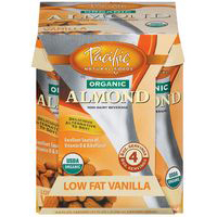 Pacific Natural Naturally Almond Vanilla Low Fat Beverage 8 Oz -Pack of 6