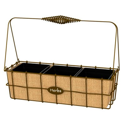 Panacea Products 213687 14 in. Rust Herb Basket