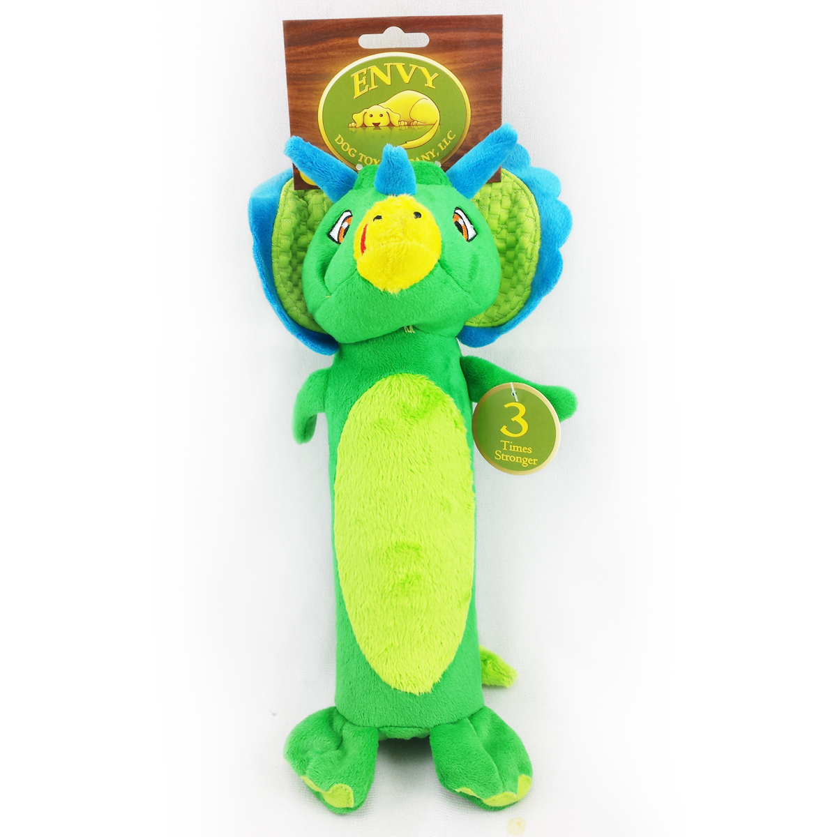 Papa Bow Wow EV 01681 11.5 in. Triceratops Bottle Cruncher