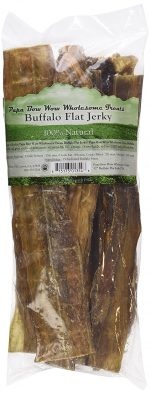 Papa Bow Wow PBW13548 12 in. Buffalo Jerky Flat Dog Treats - 0.5 lbs