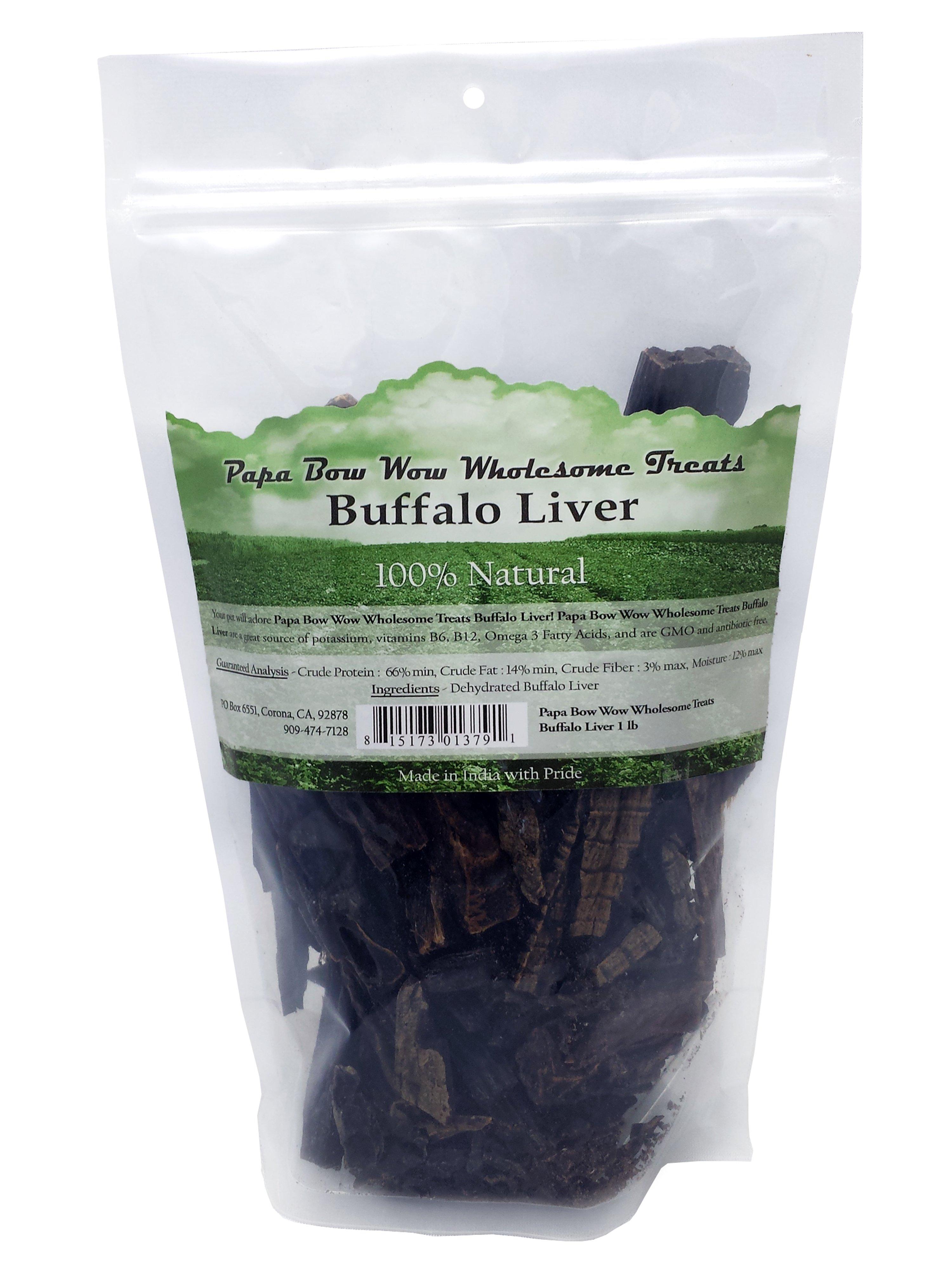 Papa Bow Wow PBW13791 Buffalo Liver Dog Treats - 1 lb