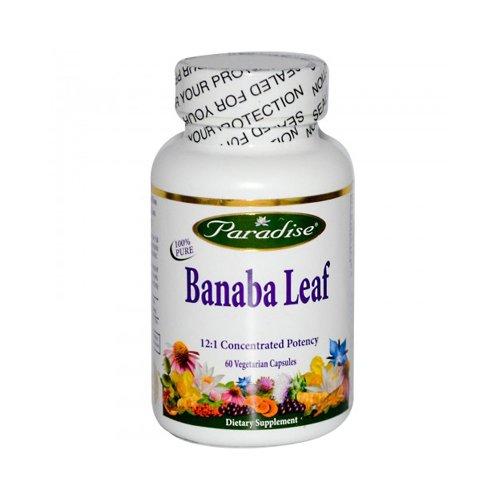 Paradise Herbs 1074608 Banana Leaf Vegetarian Capsules 60 Count