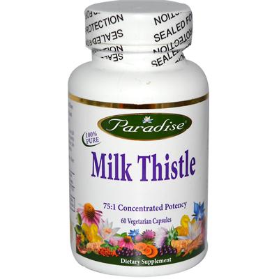 Paradise Herbs Milk Thistle - 60 Vegetarian Capsules