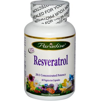 Paradise Herbs Resveratrol - 60 Vegetarian Capsules