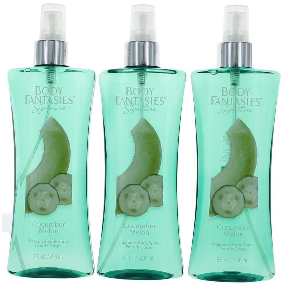 Parfums De Coeur awbfcm8bs3p 8 oz Cucumber Melon Fantasy by Body Fantasies of Fragrance Body Spray for Women Pack of 3