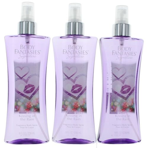 Parfums De Coeur awbfkitr8bm3p 8 oz Kissing In The Rain by Body Fantasies Fragrance Body Spray for Women Pack of 3