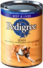 Pedigree 01030 22 oz. Chunky Beef Canned Dog Food Pack Of 12